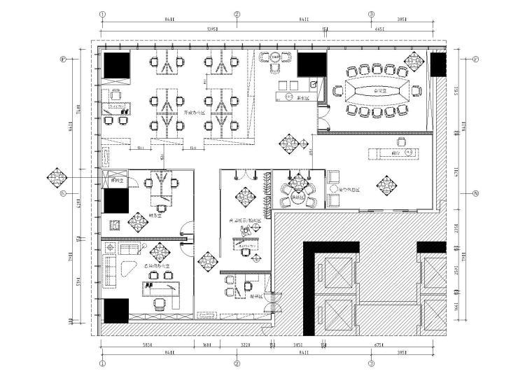 [佛山]南海万达写字楼设计施工图+效果图
