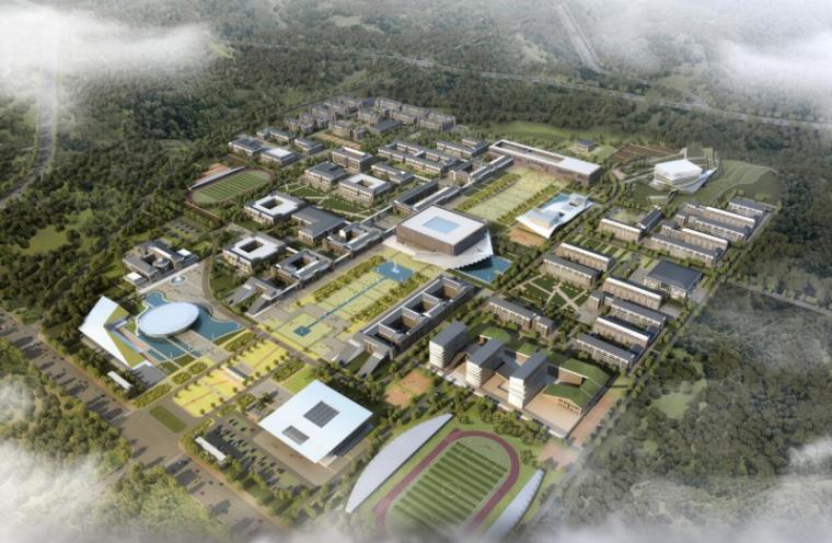 [山西]大学东山校区规划建筑模型设计-山西大学东山校区规划投标方案 哈工建院 (3)