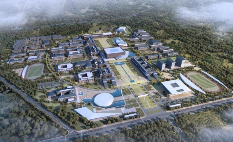 [山西]大学东山校区规划建筑模型设计-山西大学东山校区规划投标方案 哈工建院 (4)