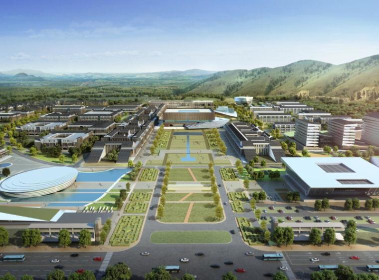 [山西]大学东山校区规划建筑模型设计-山西大学东山校区规划投标方案 哈工建院 (5)
