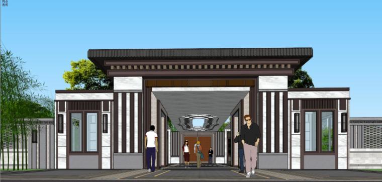 [江苏]泰禾苏州`姑苏院子示范区建筑模型