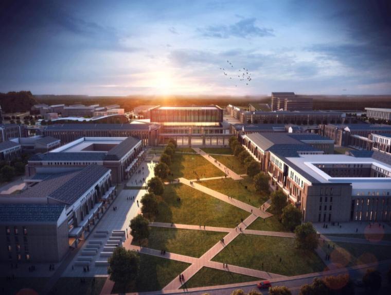 [山西]大学东山校区规划建筑模型设计-山西大学东山校区规划投标方案 哈工建院 (6)