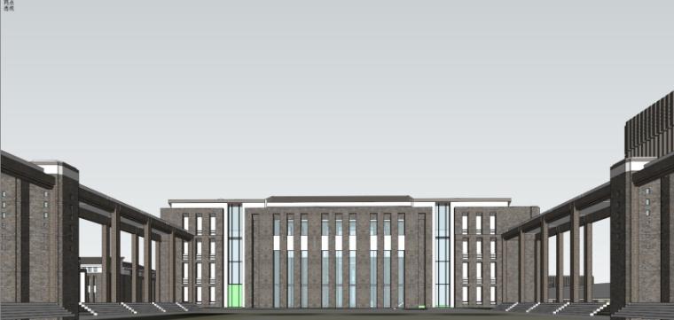 [山西]大学东山校区规划建筑模型设计-山西大学东山校区规划投标方案 哈工建院 (26)