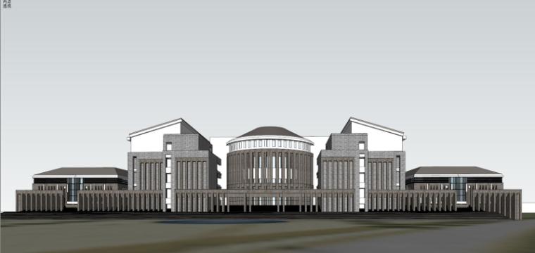 [山西]大学东山校区规划建筑模型设计-山西大学东山校区规划投标方案 哈工建院 (24)