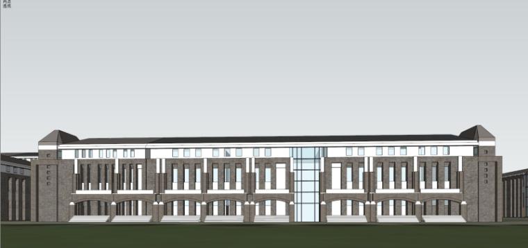 [山西]大学东山校区规划建筑模型设计-山西大学东山校区规划投标方案 哈工建院 (25)