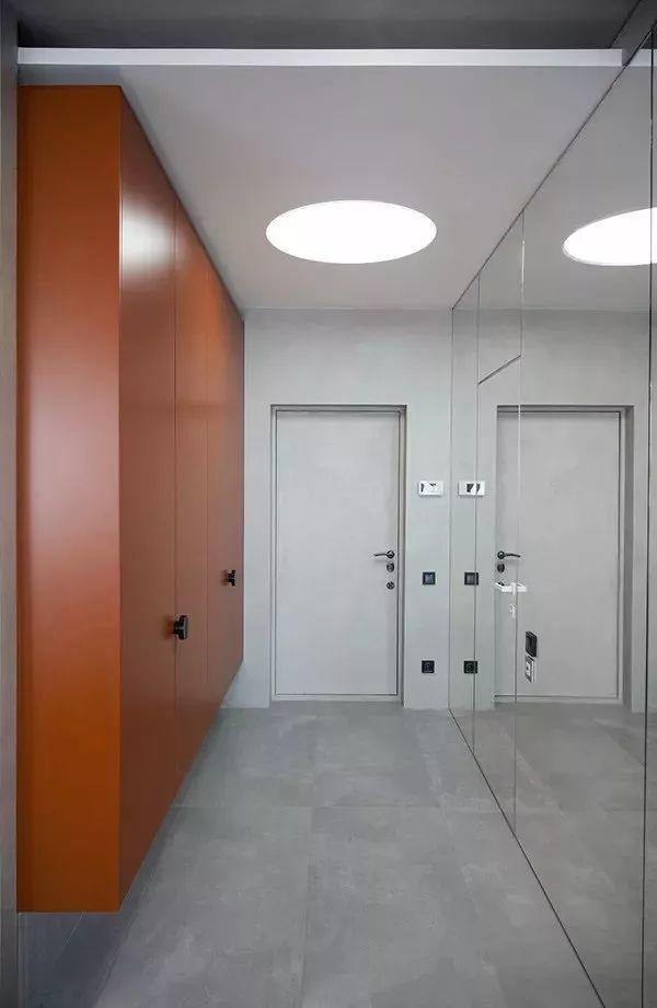 50㎡小户型单身公寓灰色简约风,隐藏式设计