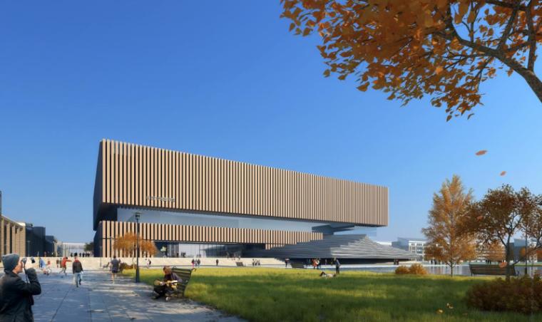 [山西]大学东山校区规划建筑模型设计-山西大学东山校区规划投标方案 哈工建院 (8)