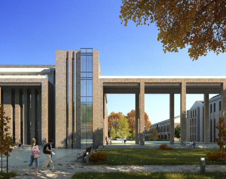 [山西]大学东山校区规划建筑模型设计-山西大学东山校区规划投标方案 哈工建院 (11)