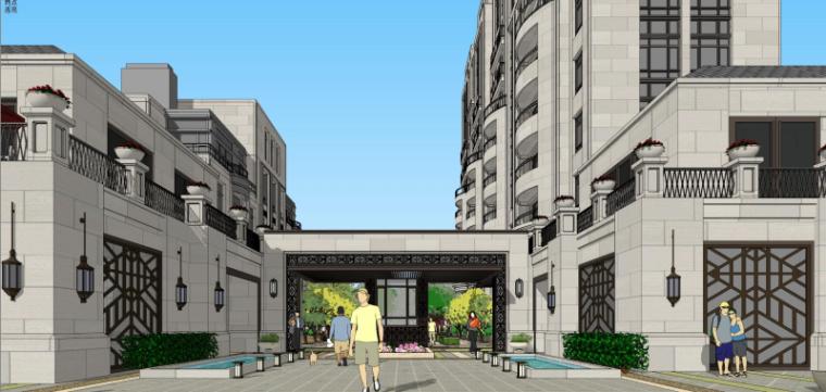 [四川]新中式风格碧桂园住宅建筑模型设计