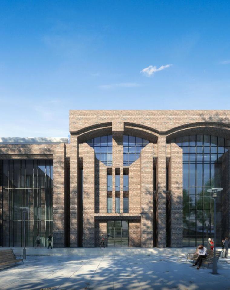 [山西]大学东山校区规划建筑模型设计-山西大学东山校区规划投标方案 哈工建院 (12)