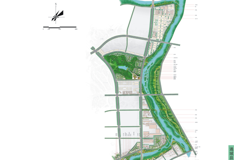 [湖北]通城县两河四岸村镇治理规划文本-总平面图1