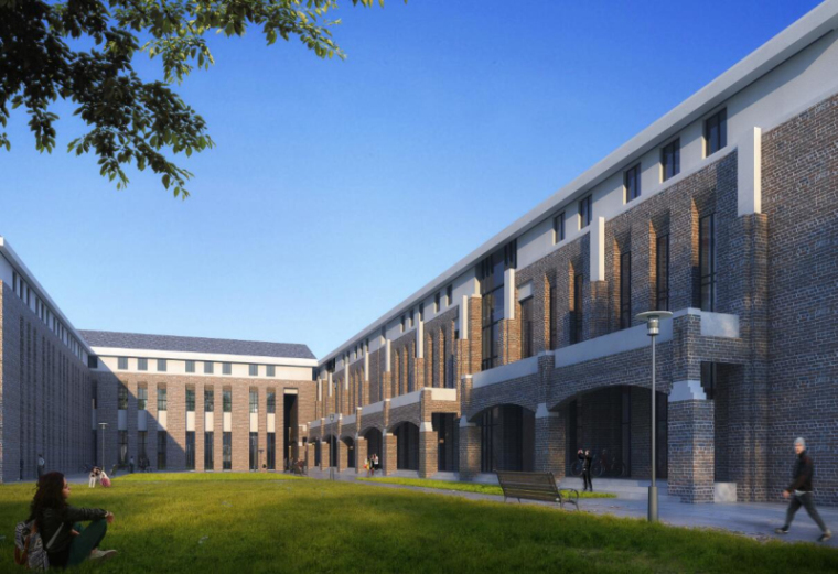 [山西]大学东山校区规划建筑模型设计-山西大学东山校区规划投标方案 哈工建院 (13)