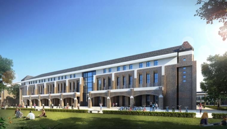 [山西]大学东山校区规划建筑模型设计-山西大学东山校区规划投标方案 哈工建院 (14)