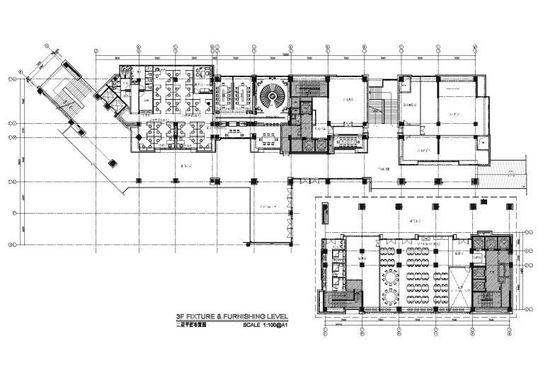 [重庆]矩阵-重庆万科办公室施工图+实景拍摄
