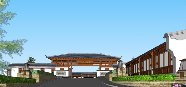 [浙江]中式风格山庄酒店建筑设计
