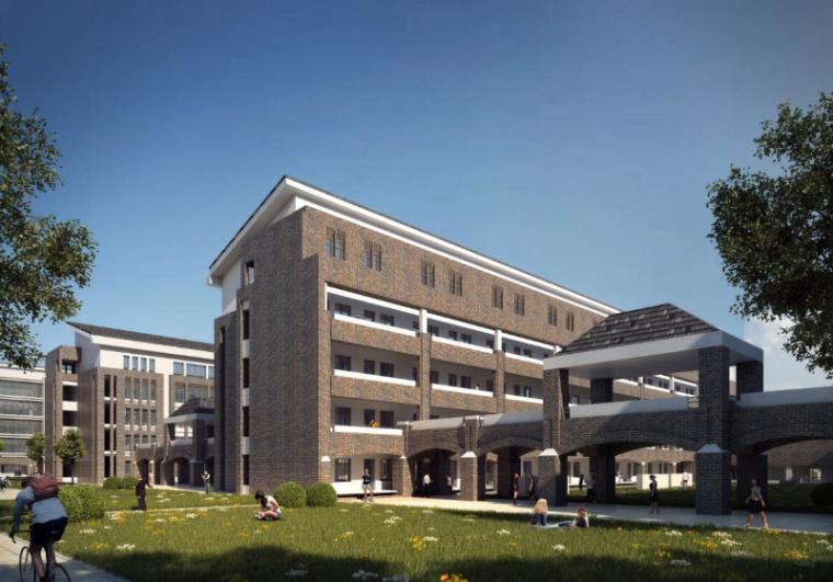 [山西]大学东山校区规划建筑模型设计-山西大学东山校区规划投标方案 哈工建院 (15)