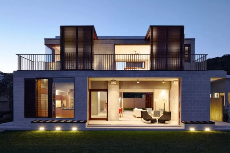 澳大利亚几何框架别墅_1