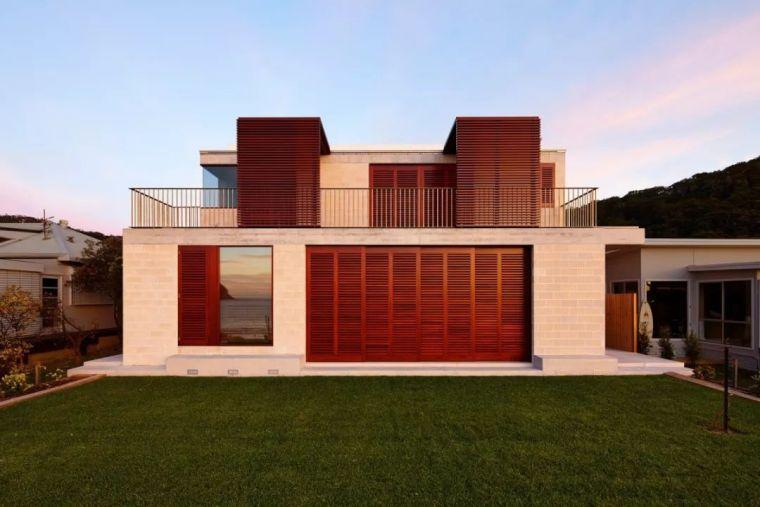 澳大利亚几何框架别墅_4
