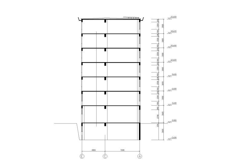 阳光城住宅区建筑设计施工图-09剖面图
