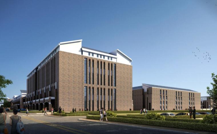 [山西]大学东山校区规划建筑模型设计-山西大学东山校区规划投标方案 哈工建院 (16)