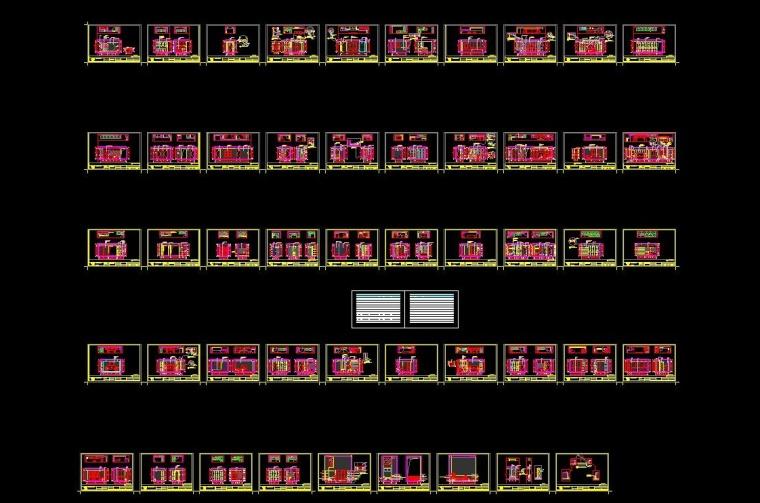 水景城四居室样板房室内装修施工图+效果图-QQ截图20170706182808_看图王