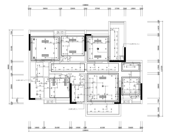 湘域中央花园现代风格B户型样板间施工图-5灯具尺寸图