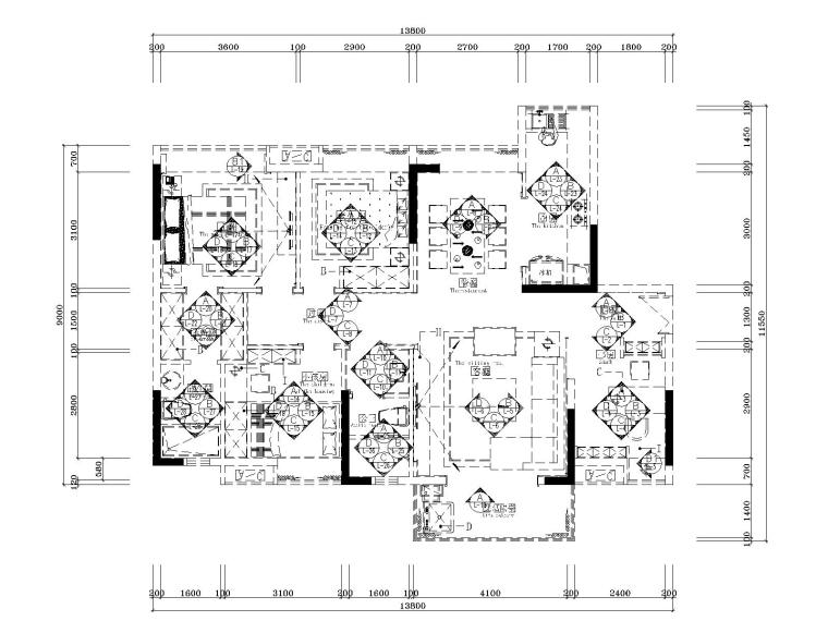湘域中央花园现代风格B户型样板间施工图-7立面索引图