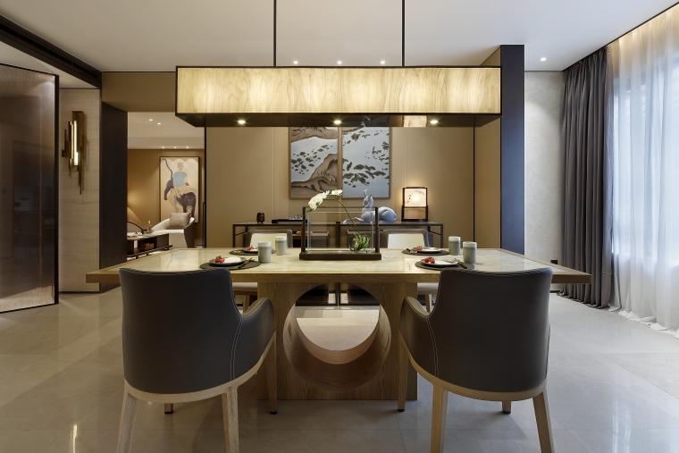 正弘瓴中式风格四居室样板间室内装修施工图-正弘瓴007