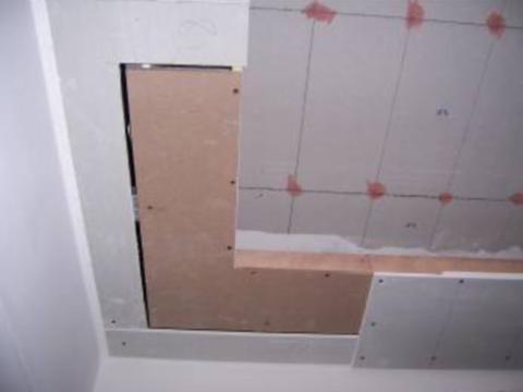转角第一层板加密度板
