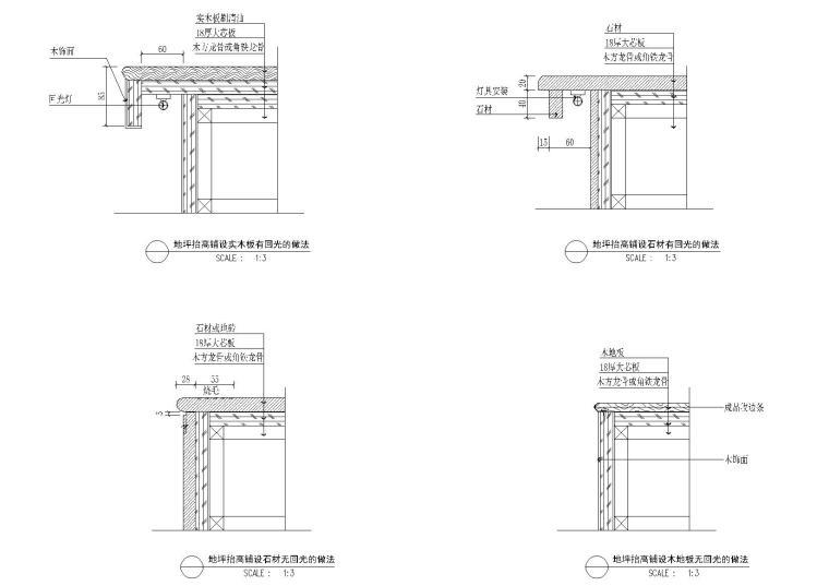 室内综合节点施工图2(玻璃安装,节点等)