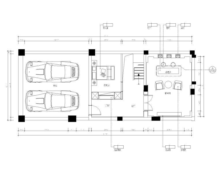 保亿丽景英郡三居室样板房室内装修施工图-6地下二层平面图