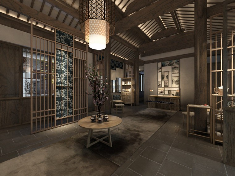 周庄花间堂酒店设计方案+效果图+CAD平面-效果图 (3)