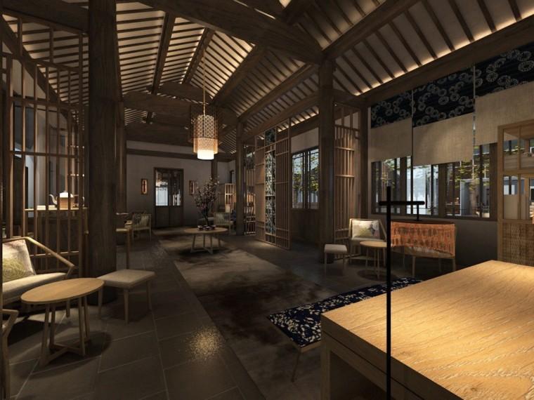 周庄花间堂酒店设计方案+效果图+CAD平面-效果图 (2)