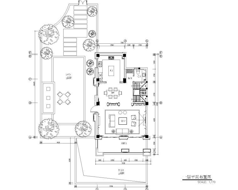 福州金辉半岛别墅B户型样板间装修施工图-2
