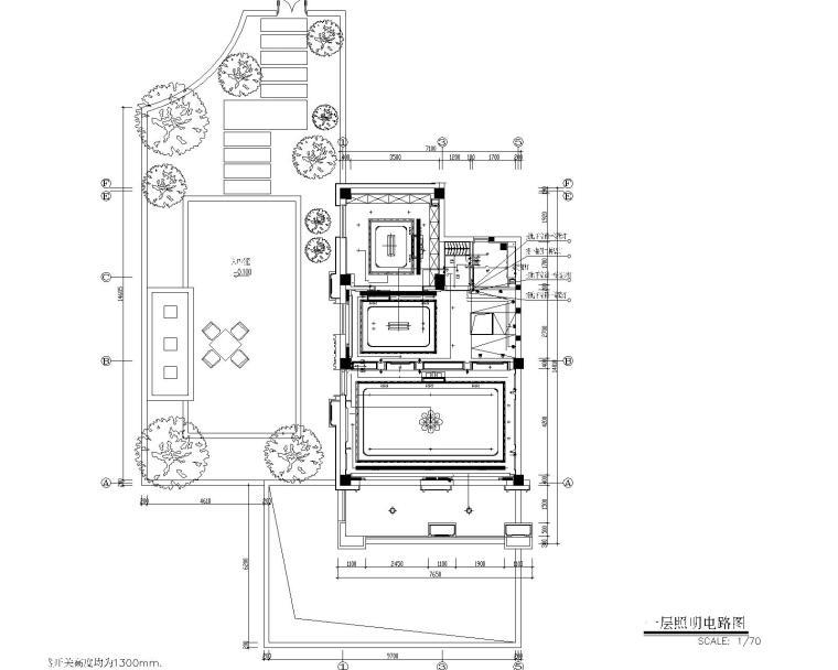 福州金辉半岛别墅B户型样板间装修施工图-7