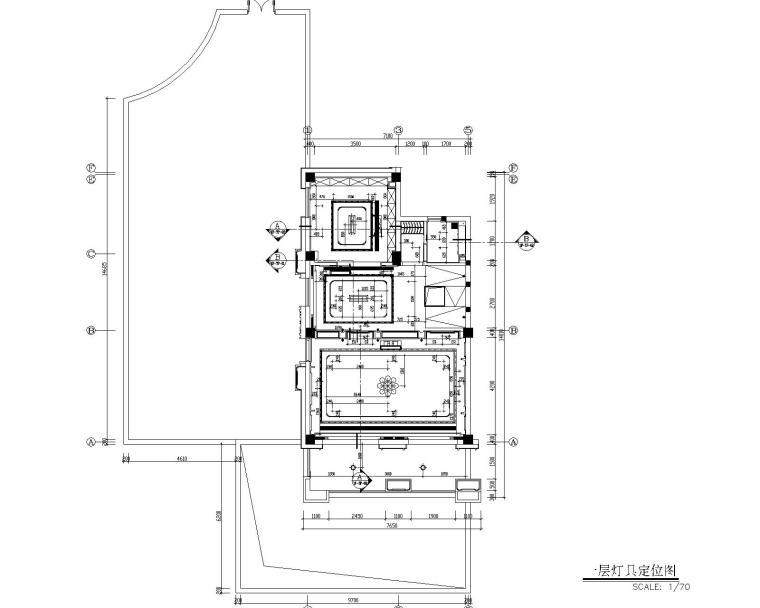 福州金辉半岛别墅B户型样板间装修施工图-6