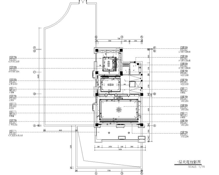 福州金辉半岛别墅B户型样板间装修施工图-5