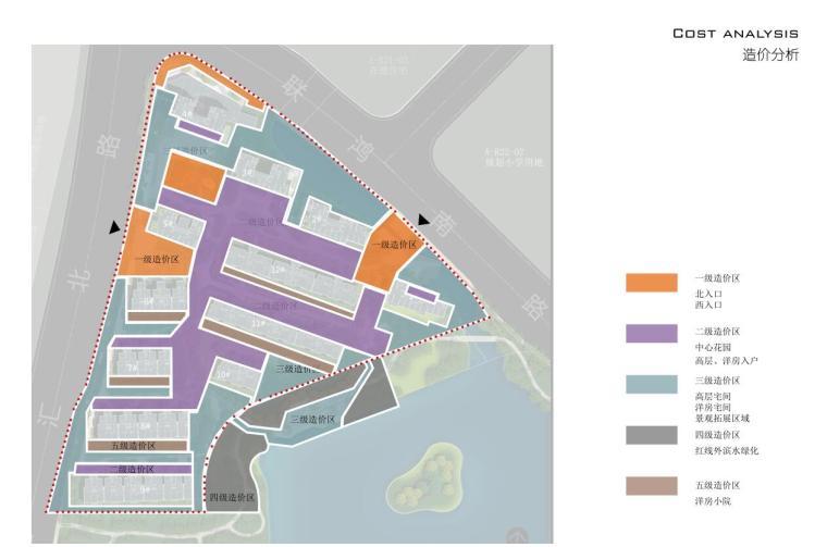[浙江]新中式风格住宅区豪宅概念设计-造价分析