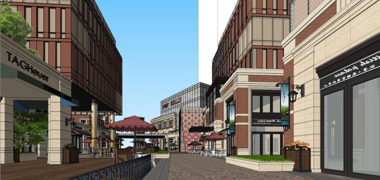 [北京]现代风格商业街建筑模型设计-北京地铁上盖 商业街 现代 (8)