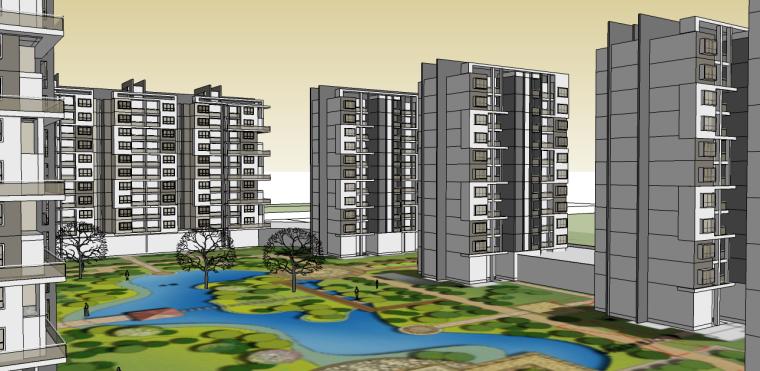 东风地块-中式小区设计SU模型-东风地块-中式小区设计 1