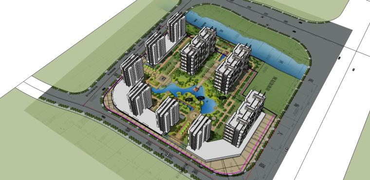 东风地块-中式小区设计SU模型-东风地块-中式小区设计 0