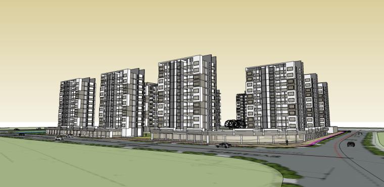 东风地块-中式小区设计SU模型-东风地块-中式小区设计 2
