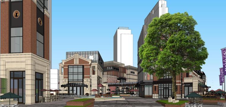 [北京]现代风格商业街建筑模型设计-北京地铁上盖 商业街 现代 (9)