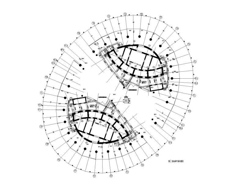 第2层结构平面布置图