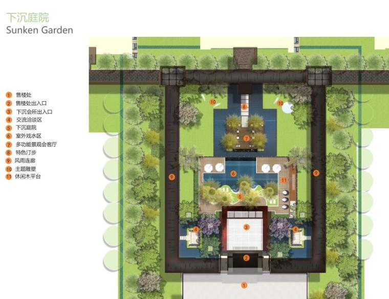 [上海]新古典风格高档居住区景观概念文本-分区设计