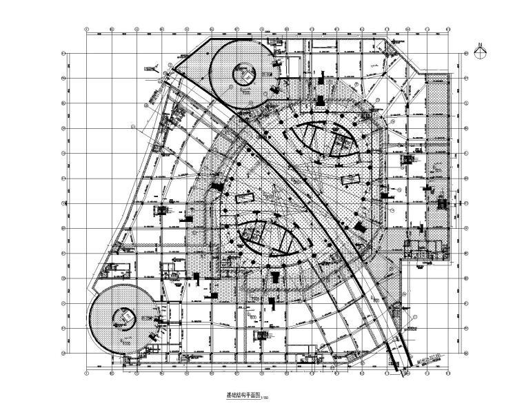 丽泽soho基础结构平面图