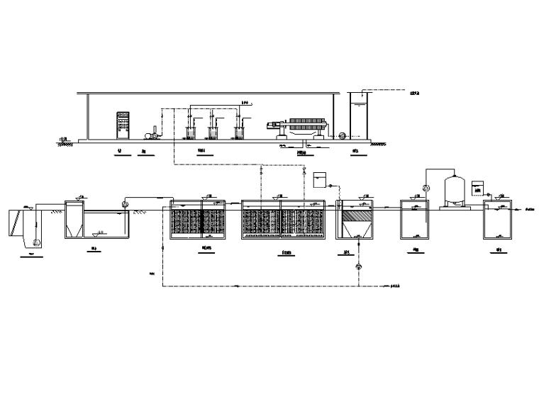 某镇污水处理站工艺施工图