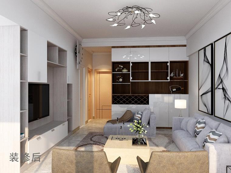 欧式装修140平米资料下载-72平米的旧房如何通过装修改造增加使用空间