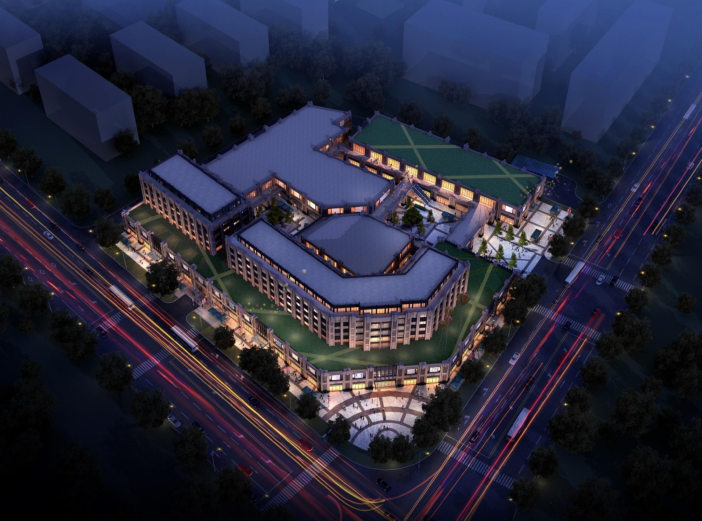 [江苏]海门邻里中心社区商业体规划设计文本-鸟瞰图