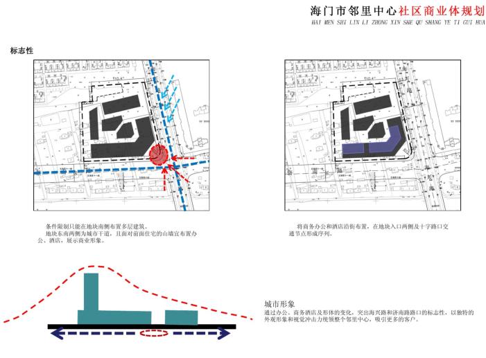 [江苏]海门邻里中心社区商业体规划设计文本-标志性